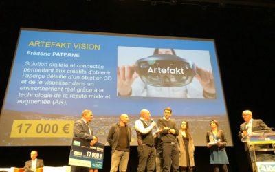 Artefakt Vision remporte le 2ème prix du numérique du concours Audace 2019 !